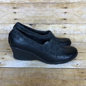 Merrell Tulip Leather Wool Wedges